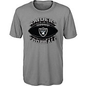 NFL Team Apparel Youth Oakland Raiders Satellite Grey T-Shirt