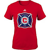 adidas Youth Chicago Fire Primary Logo Red T-Shirt