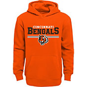 NFL Team Apparel Youth Cincinnati Bengals MVP Orange Pullover Hoodie