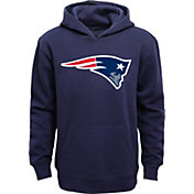 NFL Team Apparel Youth New England Patriots Logo Navy Hoodie