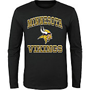 '47 Youth Minnesota Vikings Gridiron Hero Black Long Sleeve Shirt