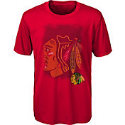 NHL Youth Chicago Blackhawks Logo Matrix Red T-Shirt