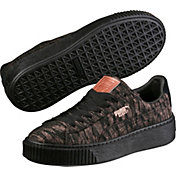 PUMA Women's Basket Platform Velvet Rope Shoes