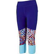 Reebok Girls' Cotton Blocked Capris