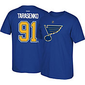 Reebok Men's St. Louis Blues Vladimir Tarasenko #91 Royal Player T-Shirt