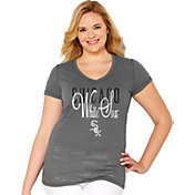 Soft As A Grape Women's Chicago White Sox Tri-Blend Grey V-Neck T-Shirt