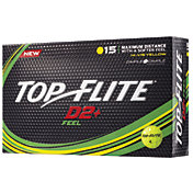 Top Flite D2+ Feel Yellow Golf Balls – 15 Pack