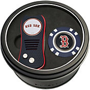 Team Golf Boston Red Sox Switchfix Divot Tool and Poker Chip Ball Marker Set