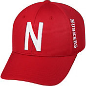 Top of the World Men's Nebraska Cornhuskers Scarlet Booster Plus 1Fit Flex Hat