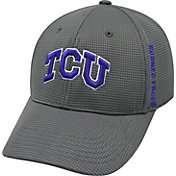 Top of the World Men's TCU Horned Frogs Charcoal Booster Plus 1Fit Flex Hat