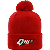 Top of the World Men's Temple Owls Cherry Pom Knit Beanie