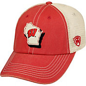 Top of the World Men's Wisconsin Badgers Red/White United Adjustable Snapback Hat