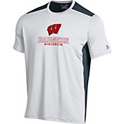 Under Armour Men's Wisconsin Badgers White Raid T-Shirt
