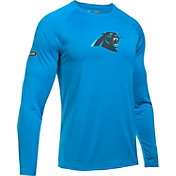 Under Armour NFL Combine Authentic Men's Carolina Panthers Logo Blue Tech Long Sleeve Shirt