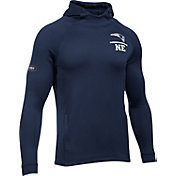 Under Armour NFL Combine Authentic Men's New England Patriots Tech Terry Navy Pullover Hoodie