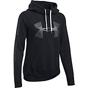 Under Armour Women's Favorite Fleece Metallic Stripe Big Logo Hoodie