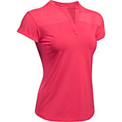 Under Armour Women's Mandarin Jacquard Golf Polo