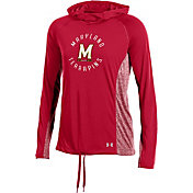 Under Armour Women's Maryland Terrapins Red Threadborne Training Hoodie