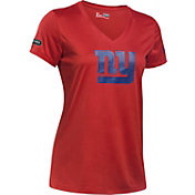 Under Armour NFL Combine Authentic Women's New York Giants Logo Red Tech Performance T-Shirt