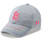 Under Armour Youth Girls' St. Louis Cardinals Twisted Renegade Adjustable Hat