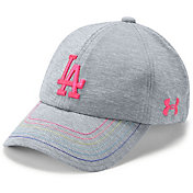 Under Armour Youth Girls' Los Angeles Dodgers Twisted Renegade Adjustable Hat