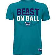 "Under Armour Youth Charlotte Hornets ""Beast On Ball"" Teal Tech Performance T-Shirt"