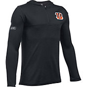 Under Armour NFL Combine Authentic Youth Cincinnati Bengals Tech Black Quarter-Zip Hoodie