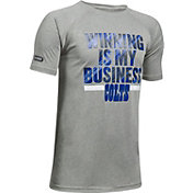 Under Armour NFL Combine Authentic Youth Indianapolis Colts Winning Business Grey T-Shirt