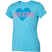 Umbro Girls' Soccer Heart Graphic T-Shirt