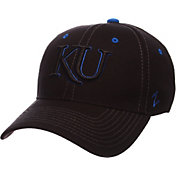 Zephyr Men's Kansas Jayhawks Black Element ZClassic Flexfit Hat