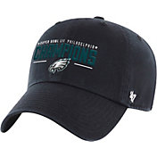 '47 Men's Super Bowl LII Champions Philadelphia Eagles Clean Up Adjustable Black Hat