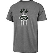 '47 Men's New York Jets Flyover Logo Grey T-Shirt