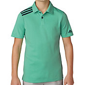 adidas Boys' 3-Stripes Golf Polo