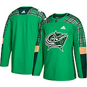 adidas Men's 2018 St. Patrick's Day Columbus Blue Jackets Authentic Pro Jersey
