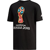 adidas Youth 2018 World Cup Soccer Event Logo Black T-Shirt