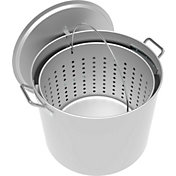 LoCo 80-Quart Aluminum Pot with Strainer