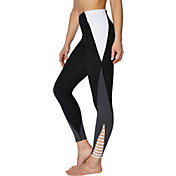 Betsey Johnson Women's Color Blocked Strappy 7/8 Leggings