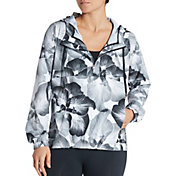 CALIA by Carrie Underwood Women's Anywhere Perforated Printed Half Zip Jacket