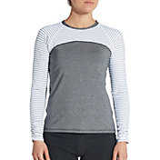 CALIA by Carrie Underwood Long Sleeve Color Blocked Rash Guard