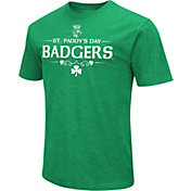 Colosseum Men's Wisconsin Badgers Kelly Green St. Patrick's Day Dual Blend T-Shirt