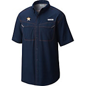Columbia Men's Houston Astros Low Drag Offshore Performance Short Sleeve Shirt