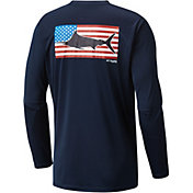 Columbia Men's PFG Terminal Tackle Flag Fish Long Sleeve Shirt