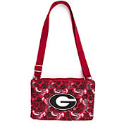 Eagles Wings Georgia Bulldogs Quilted Cotton Cross Body Purse