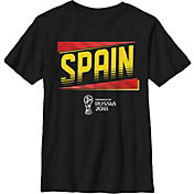Fifth Sun Youth 2018 FIFA World Cup Spain Slanted Black T-Shirt
