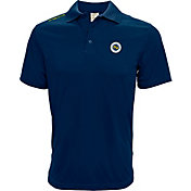 Levelwear Men's Nashville SC Wordmark Navy Heathered Polo