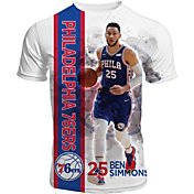 Levelwear Men's Philadelphia 76ers Ben Simmons Breakaway White T-Shirt