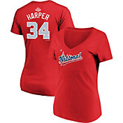 Majestic Women's 2018 National League Bryce Harper Home Run Derby V-Neck T-Shirt