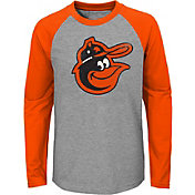 Majestic Youth Baltimore Orioles Glory Days Raglan Long Sleeve Shirt