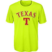 Majestic Youth Texas Rangers Glowing Game Neon T-Shirt