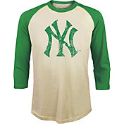 Majestic Threads Men's New York Yankees St. Patrick's Day Raglan Three-Quarter Shirt